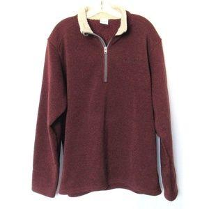 Mens Columbia Fleece Half Zip Sweater Jacket
